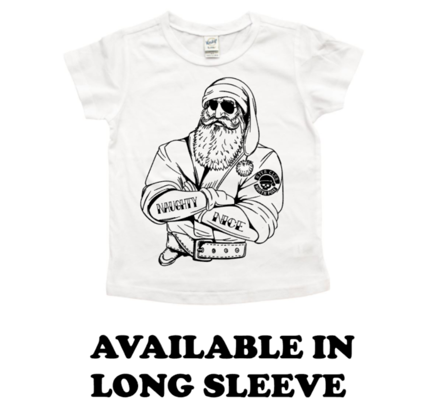 Biker Santa Christmas T-Shirt or Long Sleeve