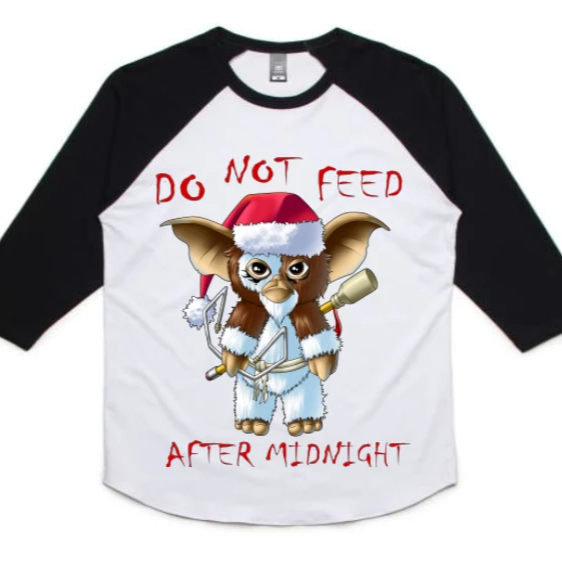 GIZMO Black/White Raglan shirt