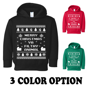 HOME ALONE UGLY SWEATER Christmas Hoodie (with sideseam pockets)