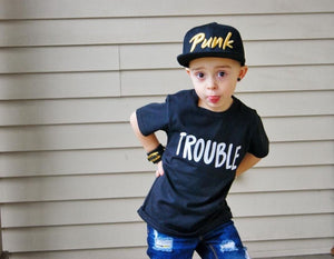 Mommy and Me Shirt Set Wherever I go Trouble Finds Me