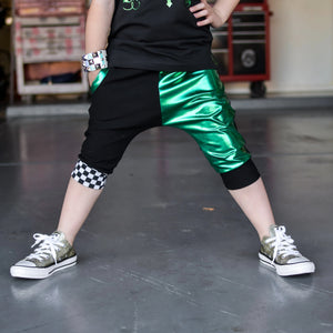 Green and Black Shorts / Joggers