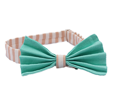 Aquamarine Pleated Bow Tie