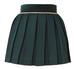 Forest Green Sweet Pleat Skirt