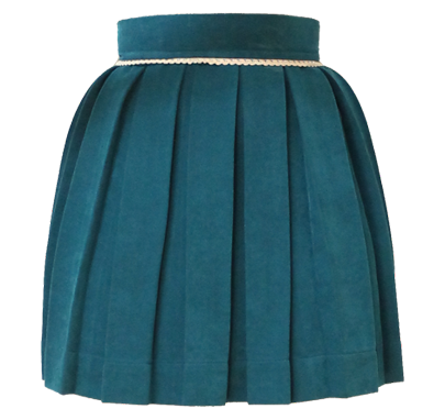 Teal Sweet Pleat Skirt
