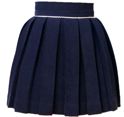 Midnight Blue Sweet Pleat Skirt