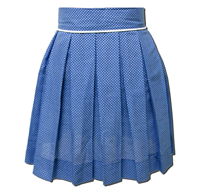 Cobalt Polka Dot Sweet Pleat Skirt
