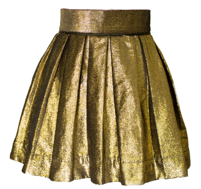 Gold Sweet Pleat Skirt