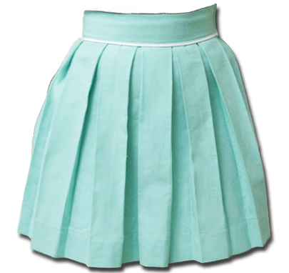 Aquamarine Sweet Pleat Skirt