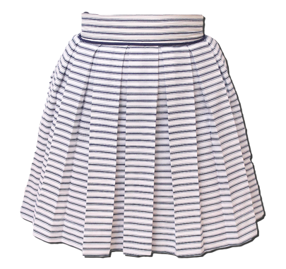 Nautical Navy Striped Sweet Pleat Skirt