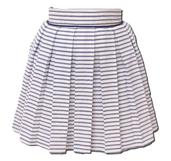 nautical striped pleated skirt