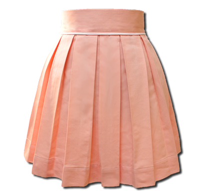Salmon Pink Sweet Pleat Skirt