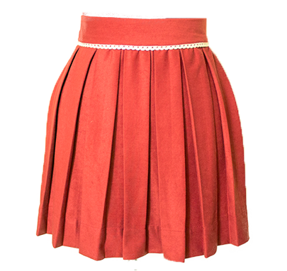 Holly Berry Red Sweet Pleat Skirt