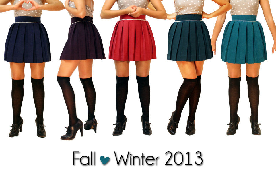 winter pleated skirts