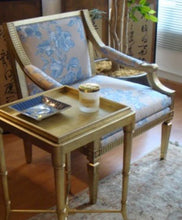 Load image into Gallery viewer, A gold leaf reproduction arm chair