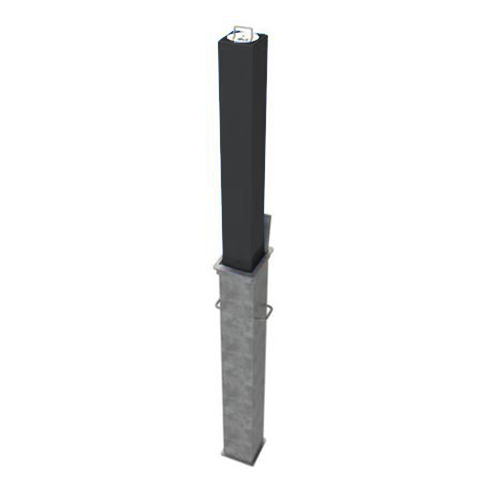 Square Telescopic Security Post / Bollard (90mm x 670mm)