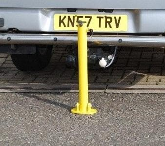 Great Value Fold Down Parking Space Protector in Yellow - 610mm High