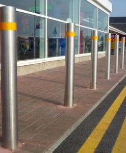 Stainless Steel Plain Fixed Bollard