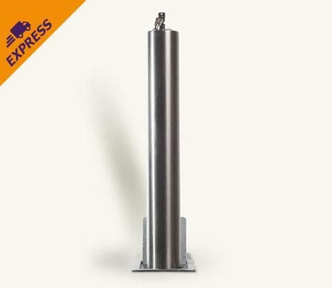 Stainless Steel Telescopic Security Post / Bollard (76mm x 500mm)