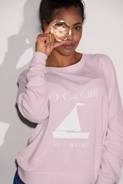 O Captain! poet sweatshirt