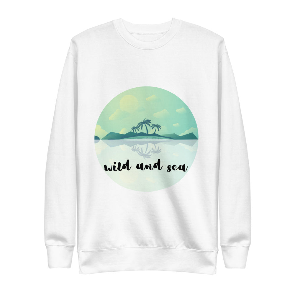 Wild Seas logo fleece sweater