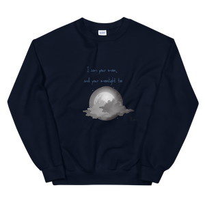 Blue moon poet sweater