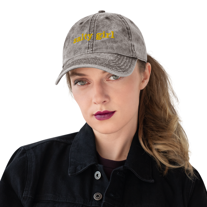 Salty girl sun cap