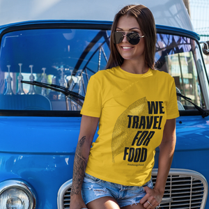 We Travel For Food Regular Fit Yellow T-Shirt