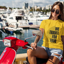 Afbeelding in Gallery-weergave laden, We Travel For Food Regular Fit Yellow T-Shirt