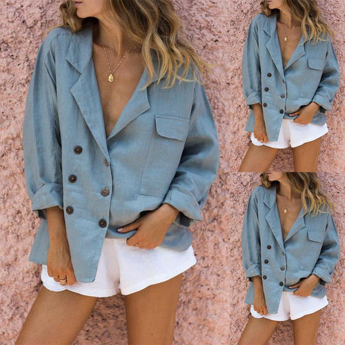 Loose Curling Shirt Shorts Suit