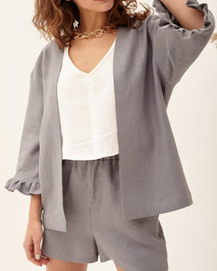 Casual  Sleeve Pure Colour Suit