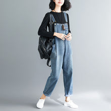 Load image into Gallery viewer, Ladies casual slim retro denim overalls
