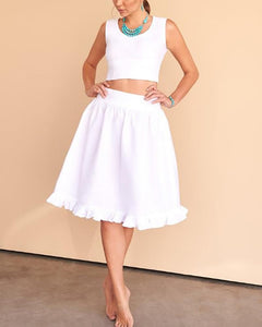 Vest Ruffled Skirt Set