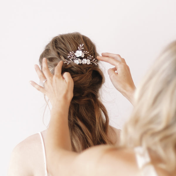 Crystal Bridal Hair Pin by Sarah Walsh Bridal Ottawa Canada