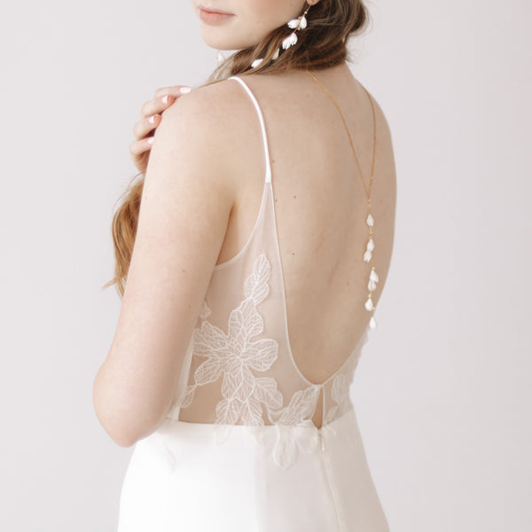 Toast Lariat - Bridal Necklaces by Sarah Walsh Bridal Jewellery Ottawa Canada