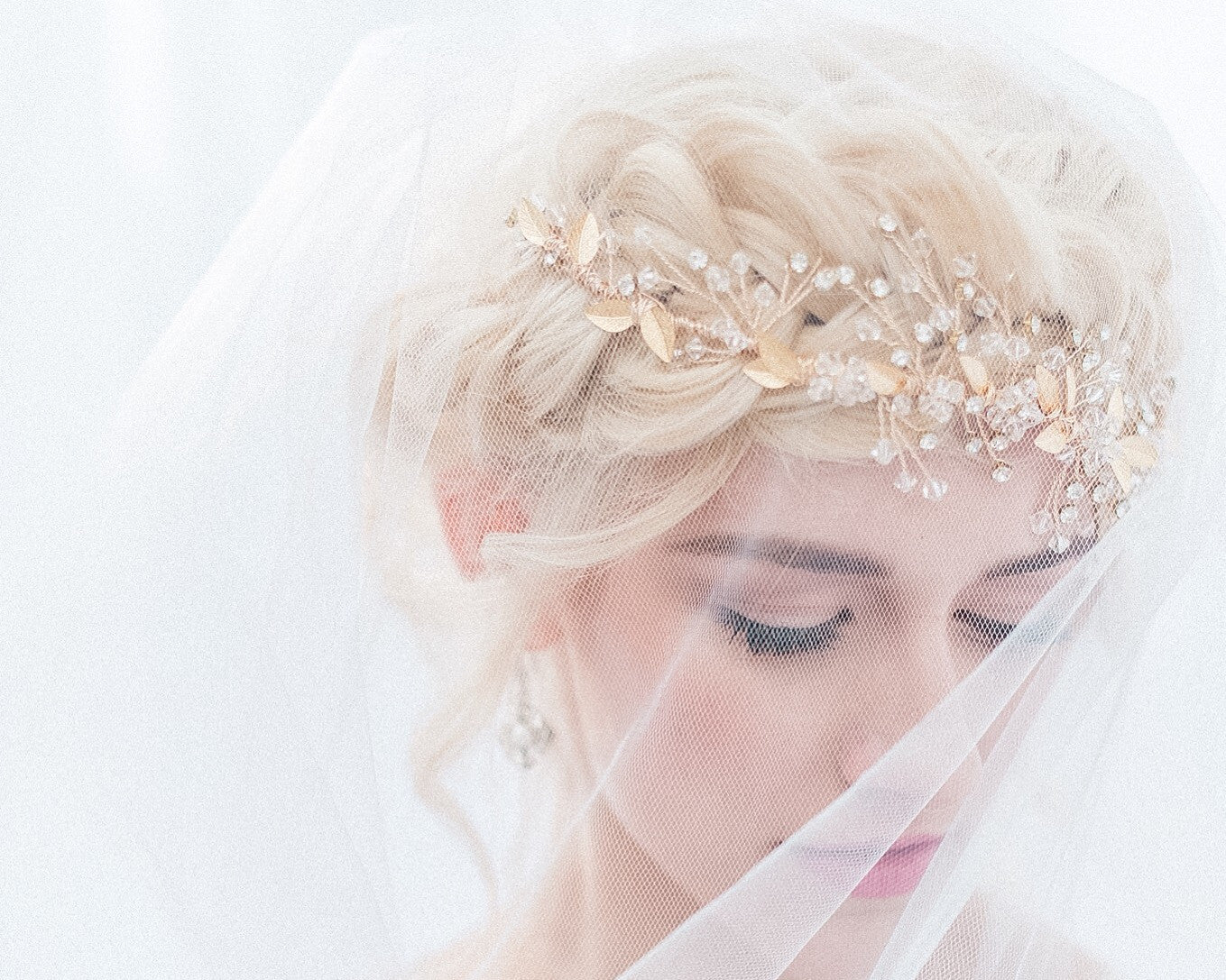 Gold Leaf Bridal Crown - Sarah Walsh Bridal Jewellery