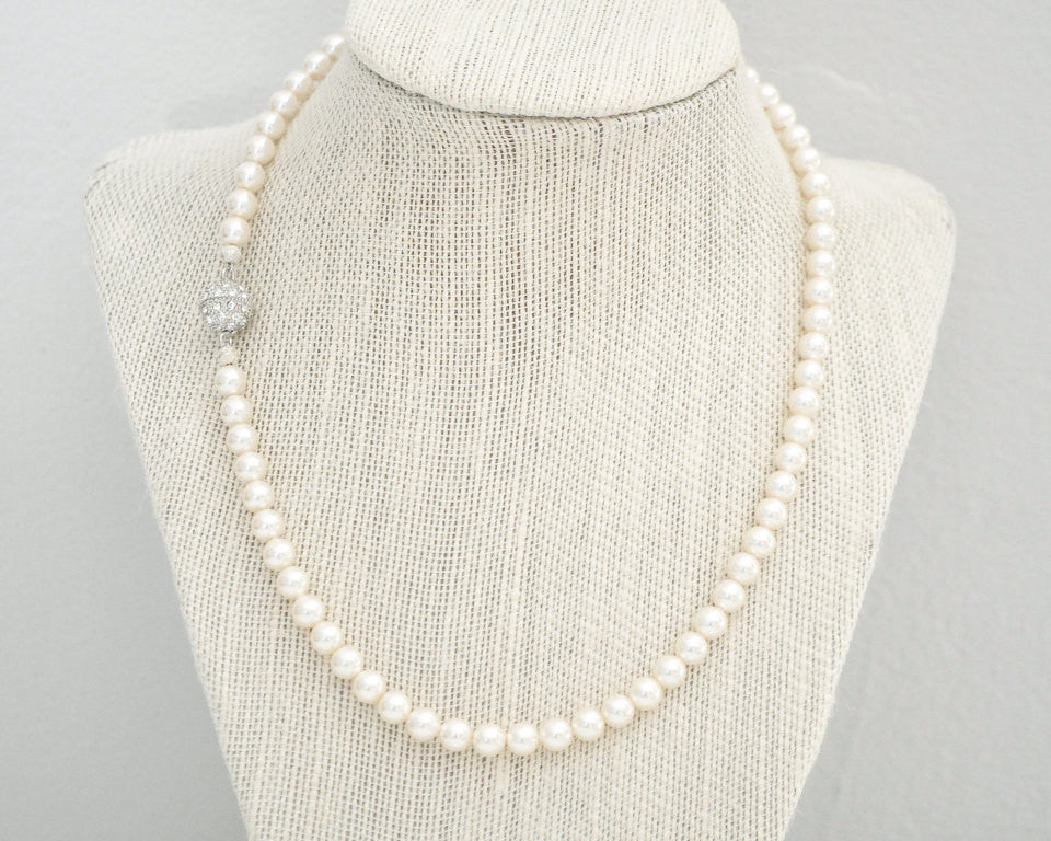 Classic Pearl Bridal Necklace (6mm) - Sarah Walsh Bridal Jewellery - 1