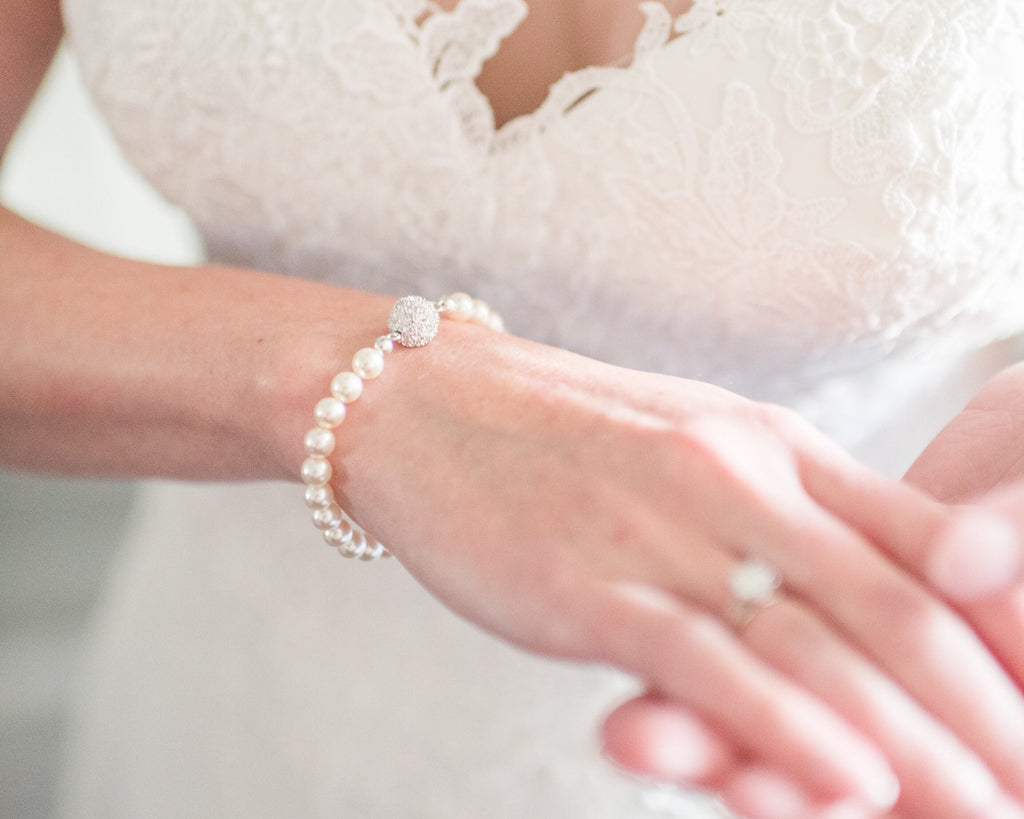 *discontinued - selling out fast!* Pavé Pearl Bracelet