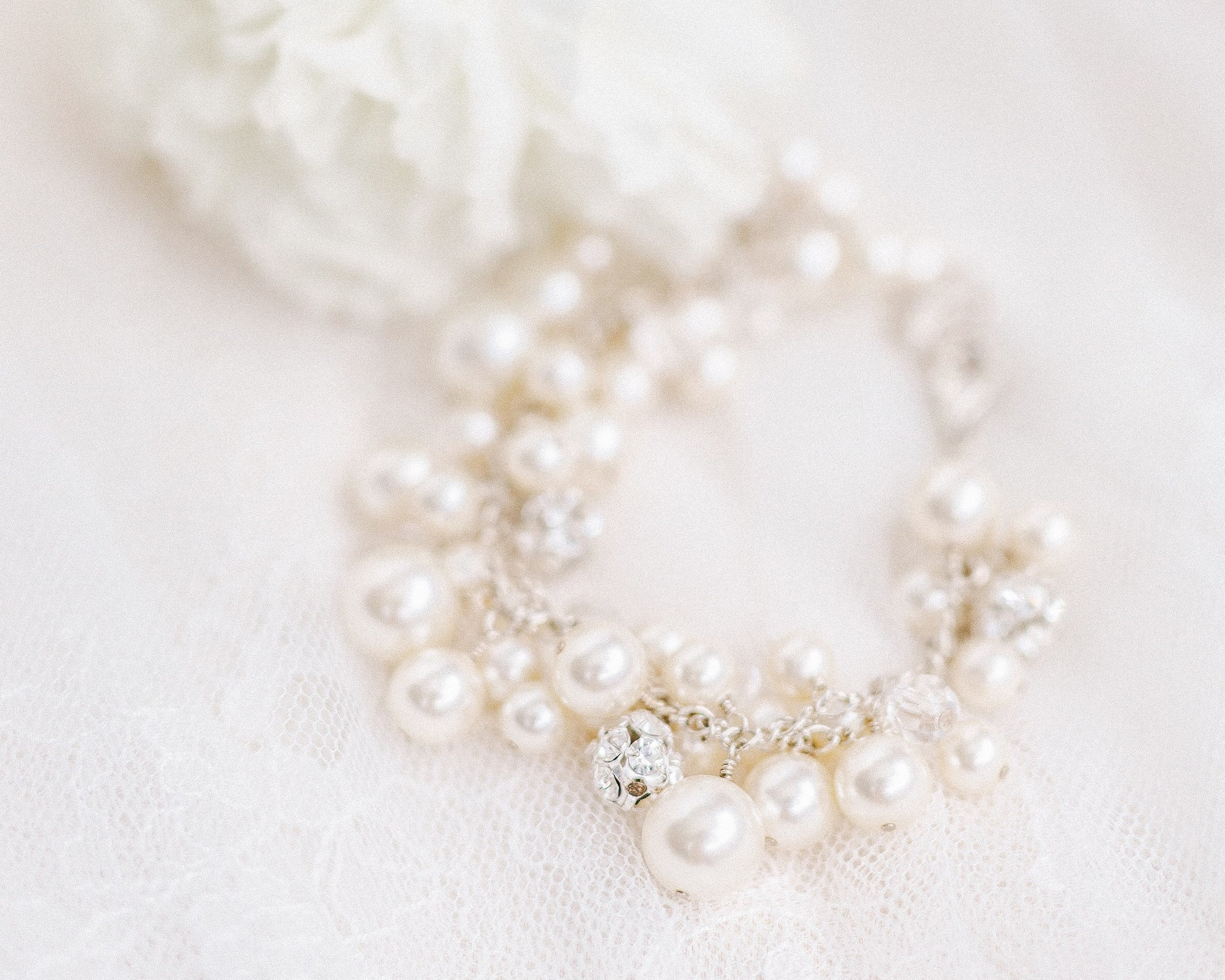*discontinued* Pearl Cluster Bracelet