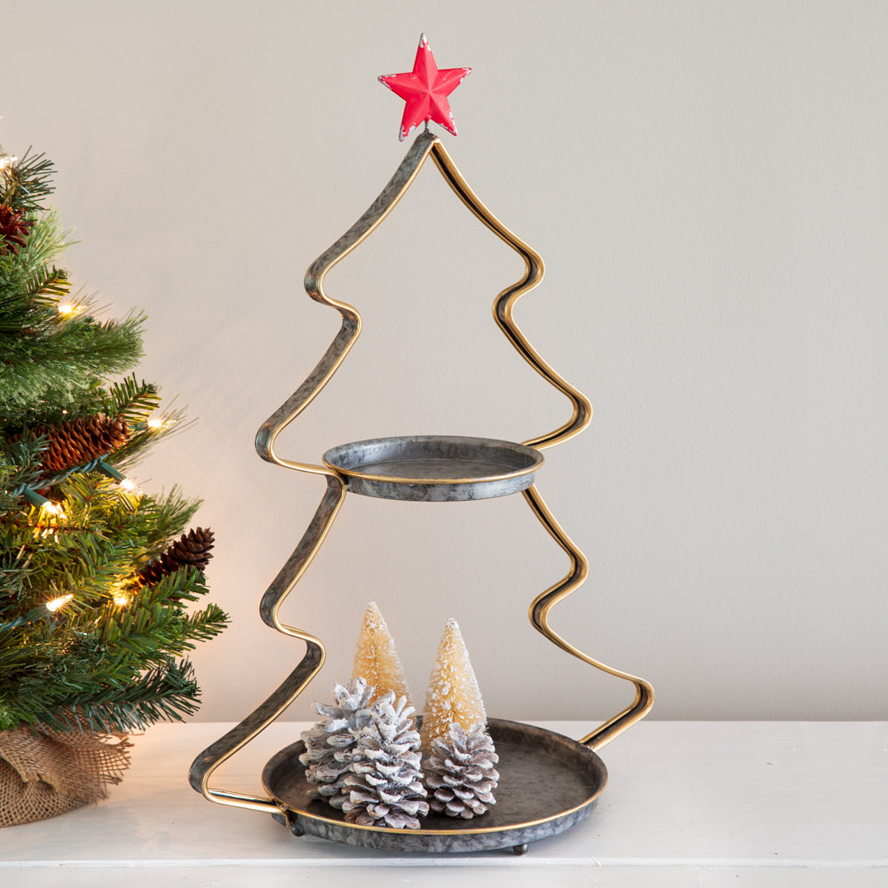 Two-Tier Christmas Tree Tray