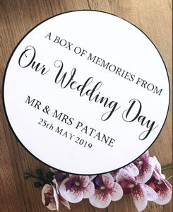 Round Wedding Memory Box