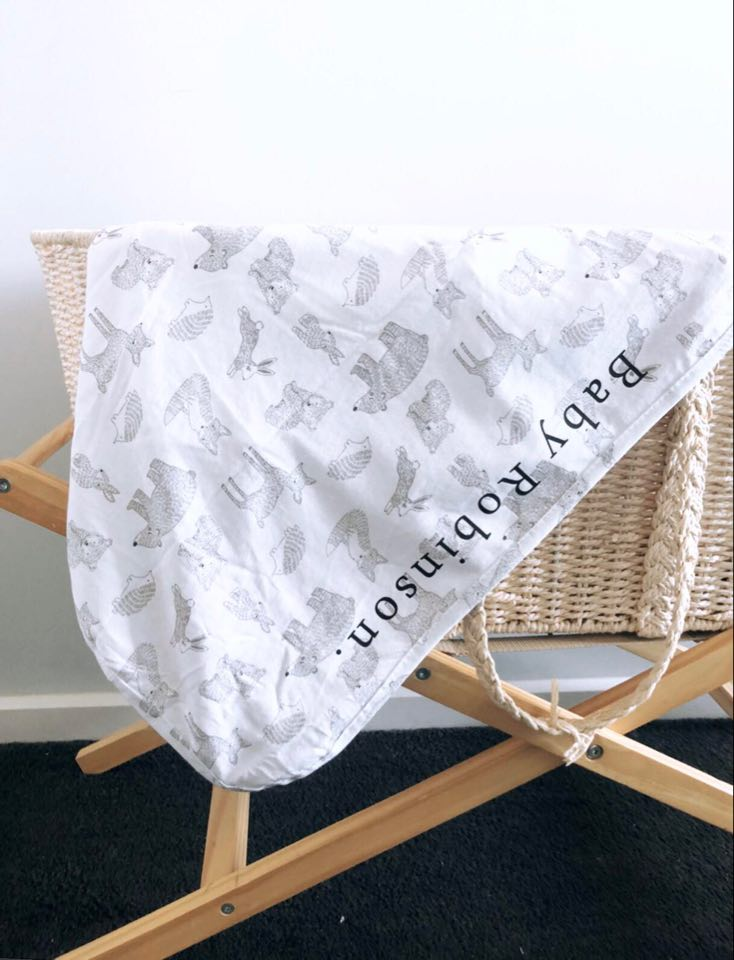 Custom baby swaddle