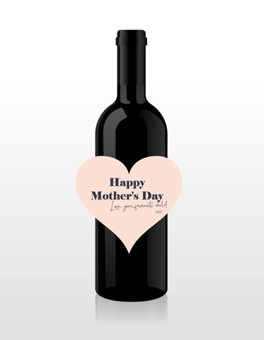 Personalised Wine Bottle - Mother's Day