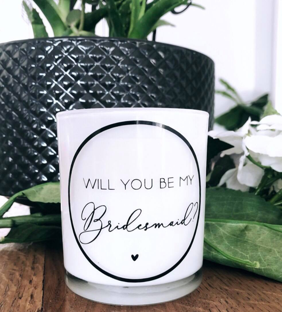 Luxe Candle - 'Will you be my...?'