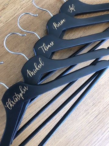 Black Hangers - First Name ONLY