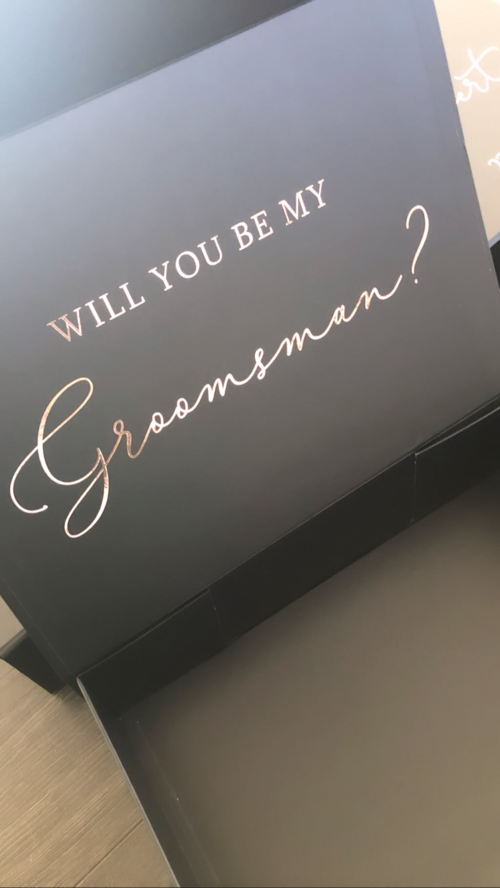 Groomsmen Hamper Box - WITH inner lid personalisation