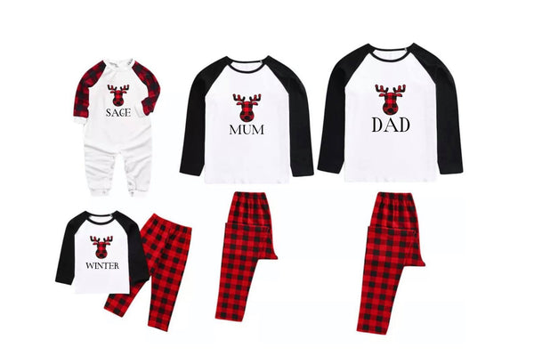 Matching Christmas Pajamas - Raindeer Head