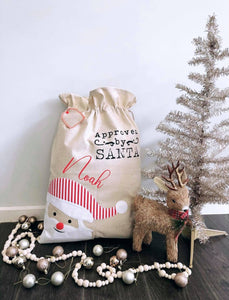 Custom Santa Sack - Santa Head
