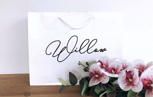 Personalised White Gift Bag