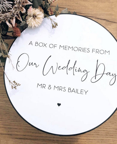New Design - Round Wedding Memory Box
