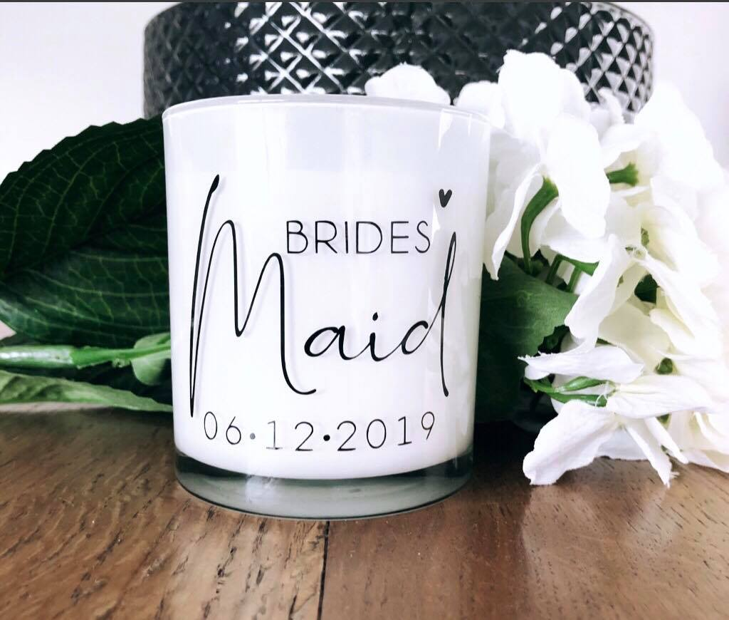 Large Luxe Candle - Bridal Title